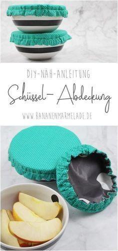 {DIY} Schüsselabdeckung nähen - BANANENMARMELADE #diyclothes