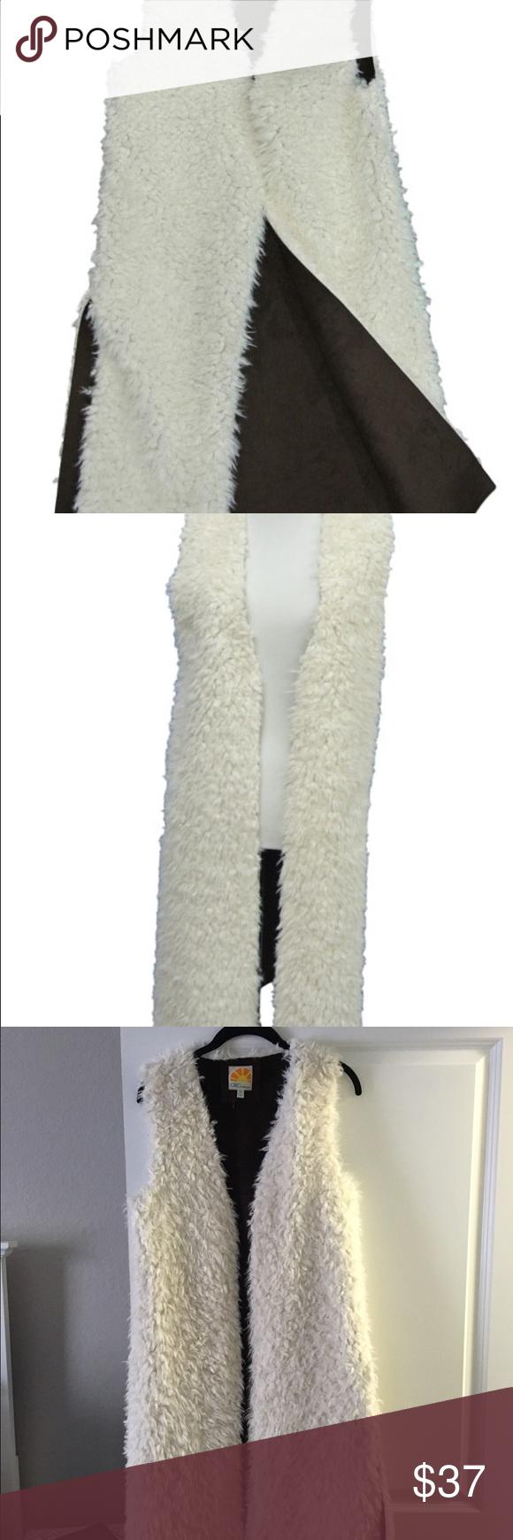 Faux fur vest C&C California faux shearling long vest C&C California Jackets & Coats Vests