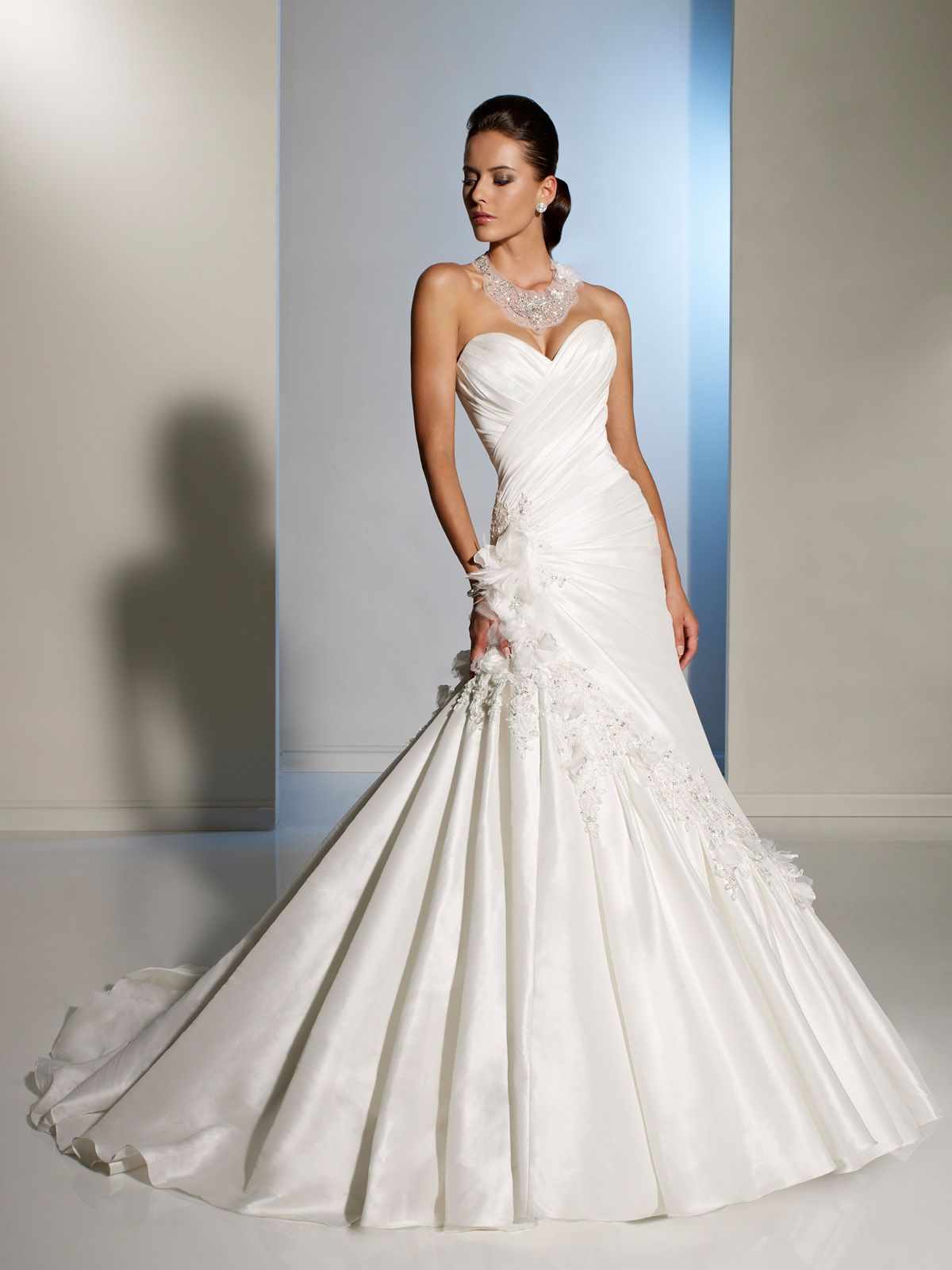 Eye catching design that compliments the figure | A-line Wedding ...