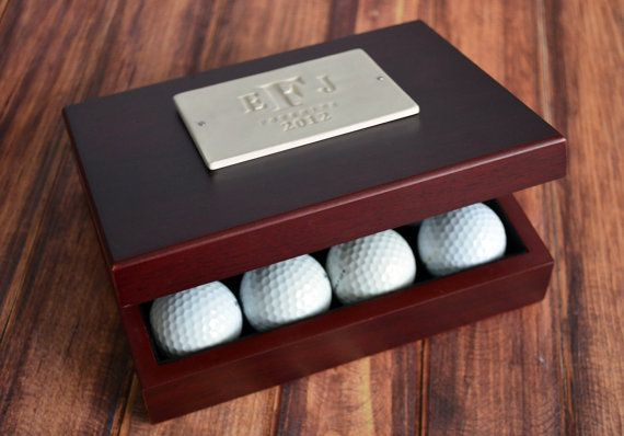 personalized golf ball box perfect for a wedding client. Black Bedroom Furniture Sets. Home Design Ideas