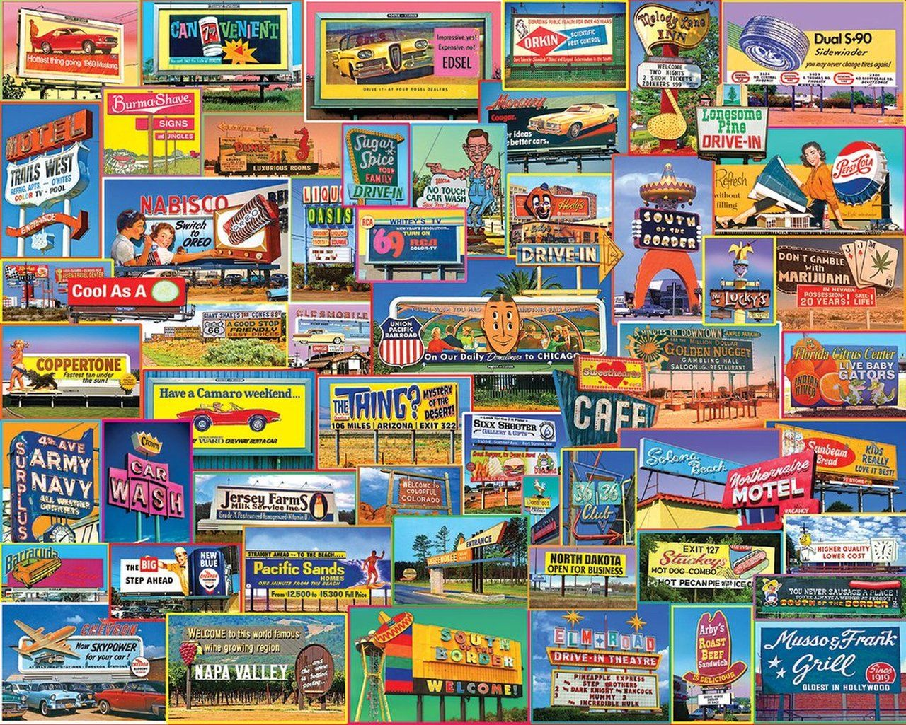 Billboards 1000pc Jigsaw Puzzle By White Mountain in