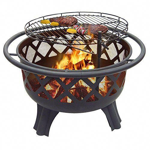 Catalina Creations Crossfire Fire Pit with Quick Removable ... on Zeny 24 Inch Outdoor Hex Shaped Patio Fire Pit Home Garden Backyard Firepit Bowl Fireplace id=97339
