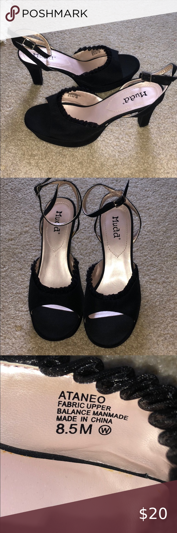 Mudd open toe heels