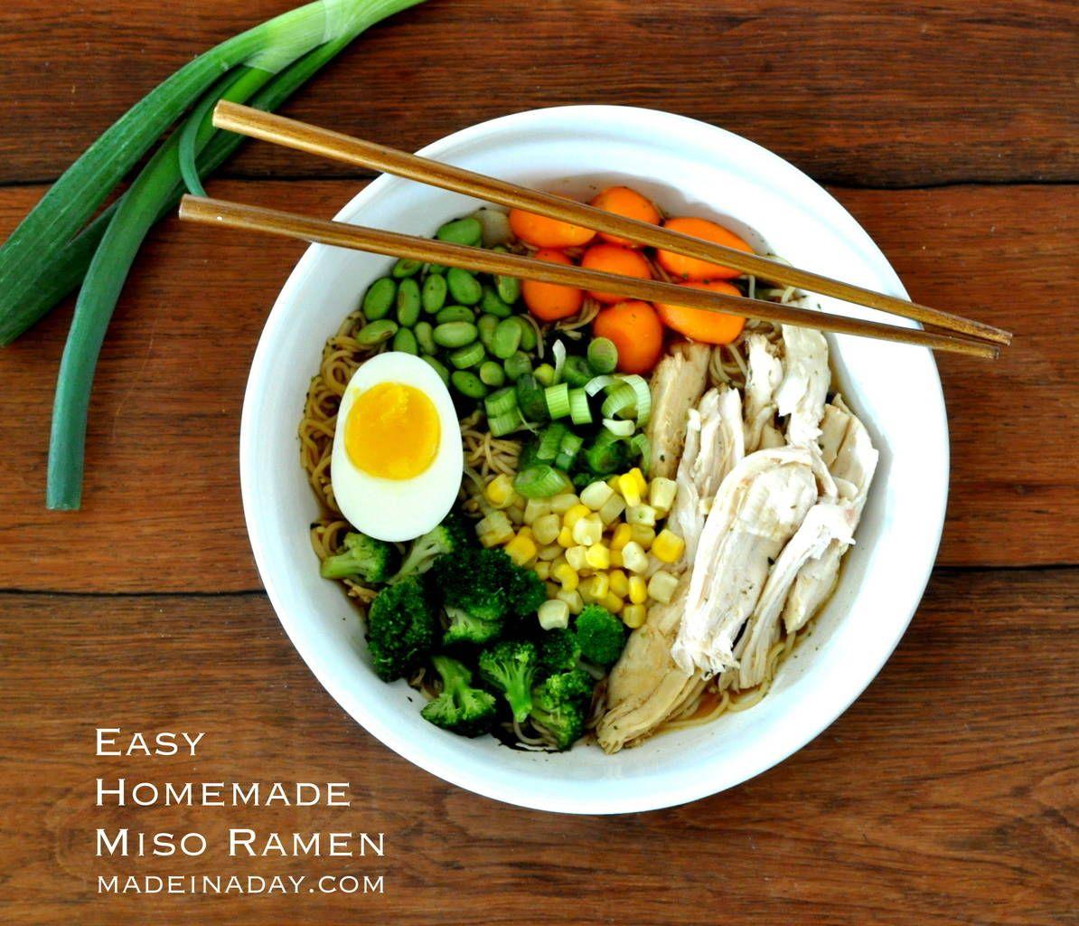 Easy homemade miso ramen recipe homemade ramen ramen