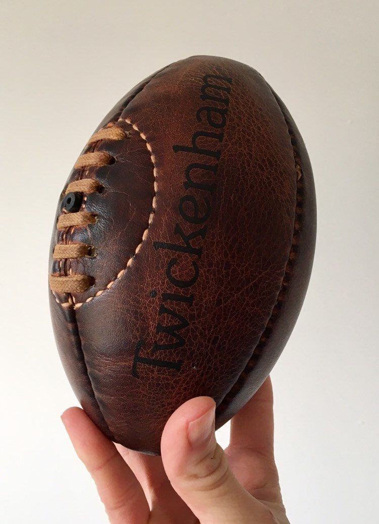 Twickenham Rugby Mini Ball Leather Vintage Rugby Ball Rugby Ball Gift For Teenager Vintage Decor Christmas Gift Socking Vintage Decor Christmas Gifts Gifts