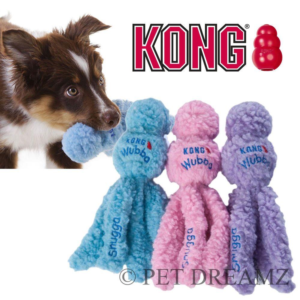 Kong Snugga Wubba Puppy Dog Toy Soft Tug Throw Fetch Dogs And