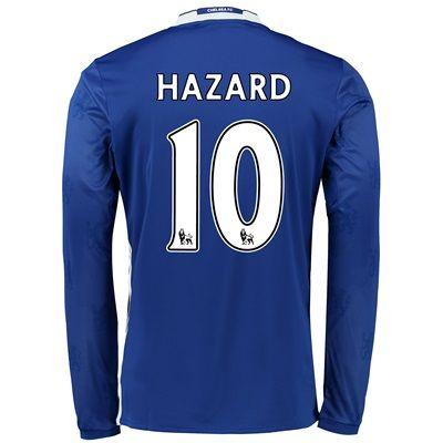 41e022b6dae Chelsea Home Shirt 2016-17 - Long Sleeve with Hazard 10 printing  with  Hazard