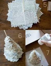 adornos navideos reciclados faciles Reciclando papel Navidad