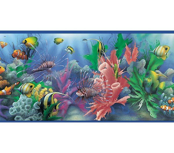 Interior Place Sea Life Wallpaper Border, 17.99 (http