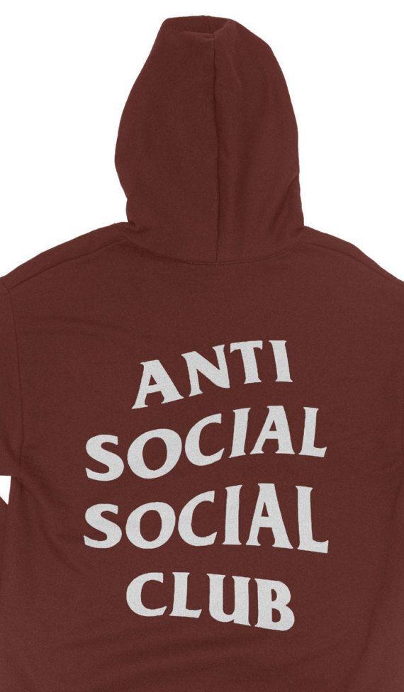 7ea8f0d8cf098 Anti Social Club Hoodie - Anti Social Social Club Sweatshirt - yeezy hoodie  - Yeezus Hoodie - Kanye West Hoodie - Paranoid - assc  Hoodies   SocialSocialClub