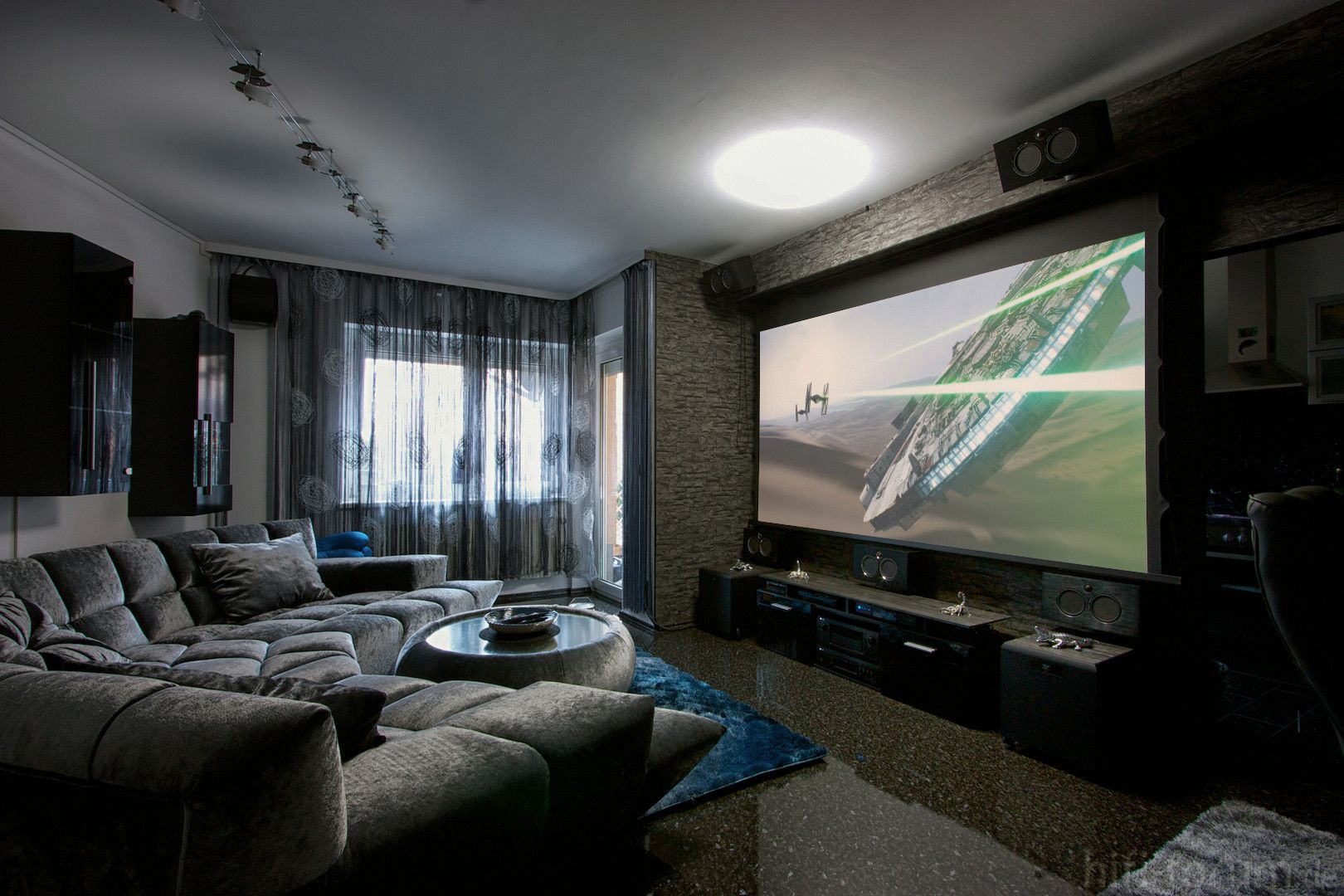Projectors Vs Tvs Which Is Best For Your Home Theater Digital Trends Living Room Theaters Home Theater Seating Home Theater Design