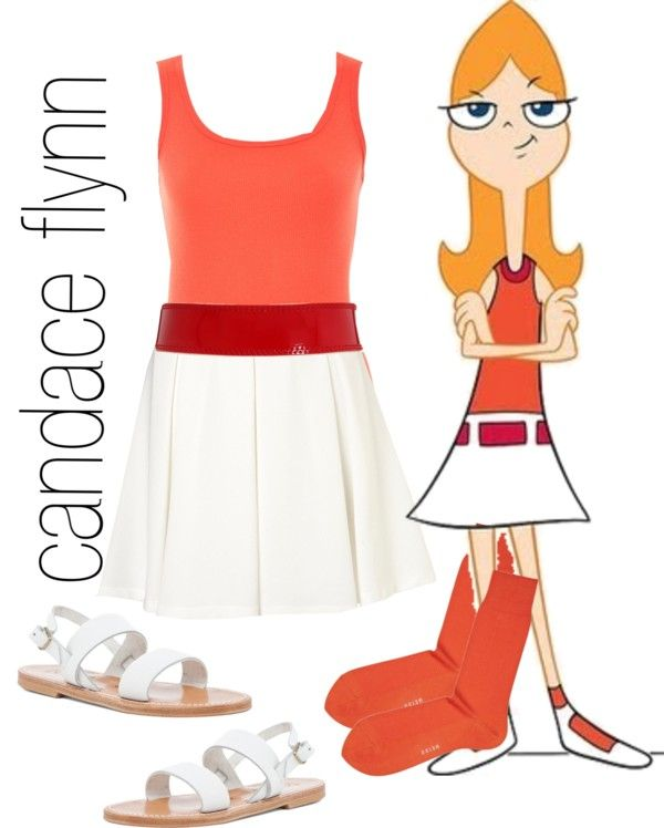 candace phineas ferb by simmaaay liked on polyvore - Phineas Halloween Costume