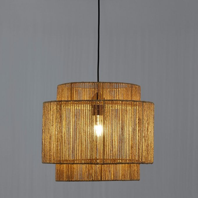 Yaku ceiling lampshade in natural hemp La Redoute Interieurs | La Redoute