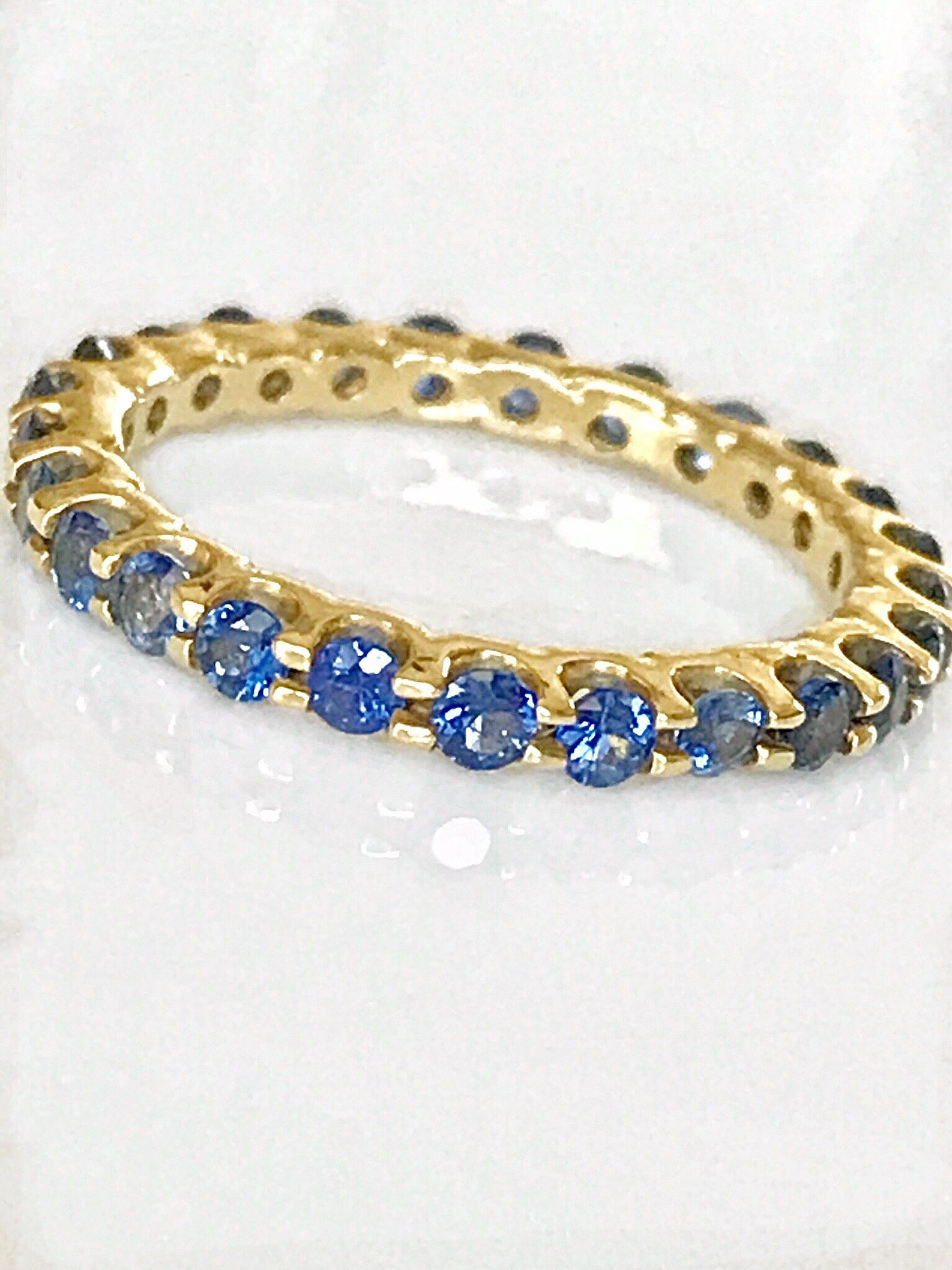stone sapphire color yellow pink jewelry bands eternity band bridal stackables gold wedding