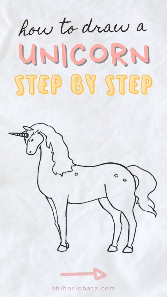 How To Draw A Unicorn Easy Step By Step Tutorial In 2020