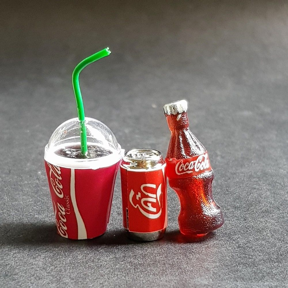 Details about Coke Coca Cola Set Dollhouse Miniature Doll Mini Food Drink Tiny Soda Beverage #miniaturedolls