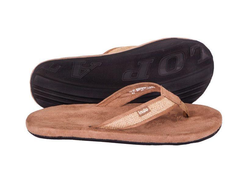 00ff2300814d5 Indosole Men s Tan Burlap Sandal