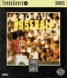 Complete World Class Baseball - Turbo Grafx 16 Game