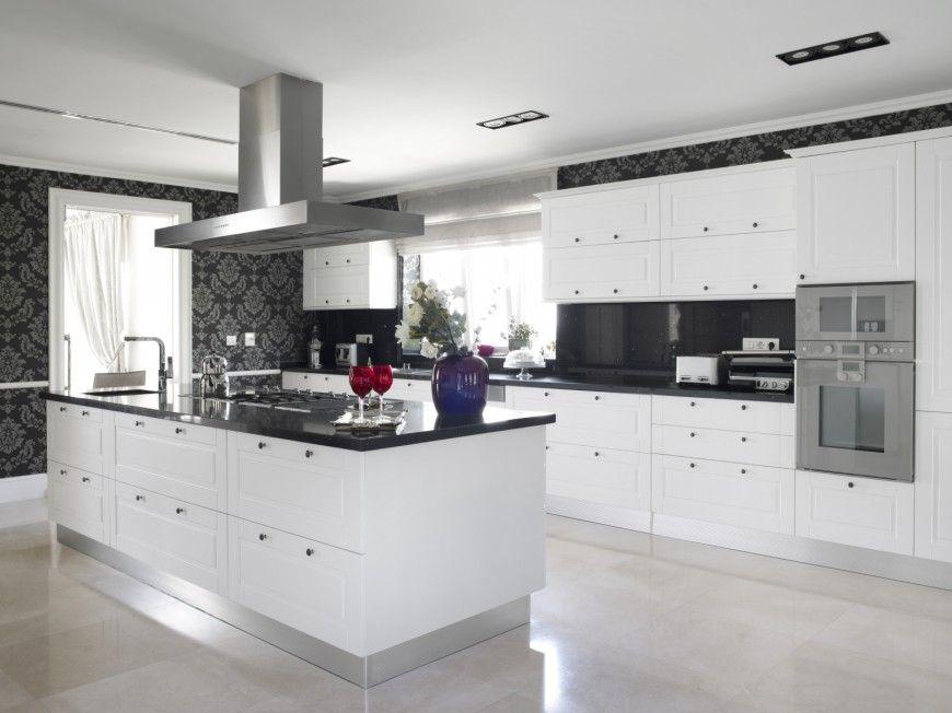 Black And White Kitchen Designs Ideas And Photos White Modern Kitchen Modern Black Kitchen Modern Kitchen Design