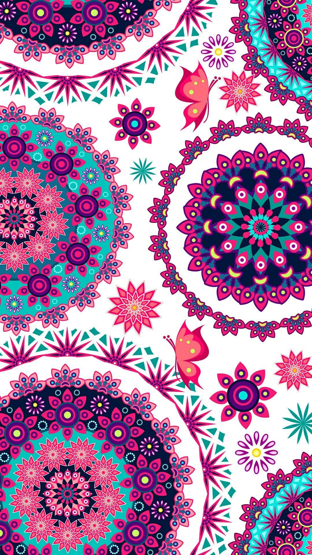 Watercolor Floral C Taylor Bates Hand Painted Wallpaper Pink