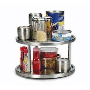 STAINLESS Steel LAZY Susan 2 Tier TURNTABLE Kitchen By Endurance, Http://www