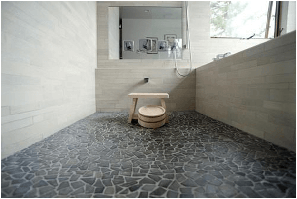 15 Bathroom Flooring Options Pros And Cons Of Each Home Stratosphere Japanese Bathroom Asian Bathroom Japanese Style Bathroom