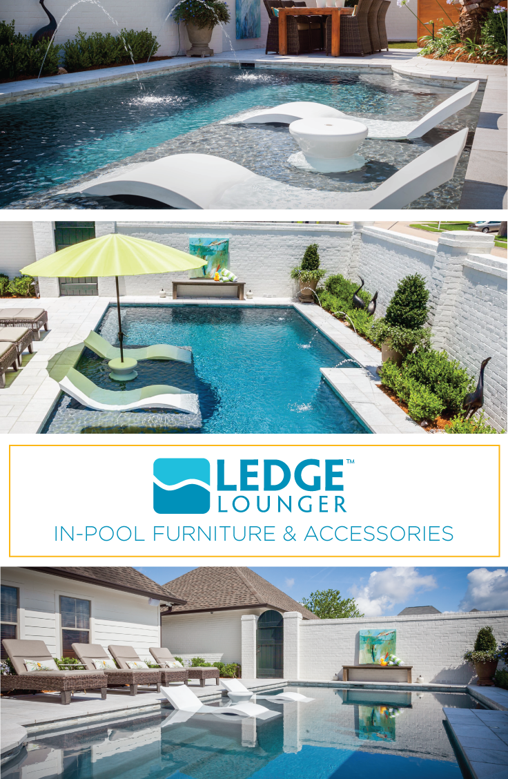 Ledge Lounger In Pool Furniture Is Designed For In Water Use On