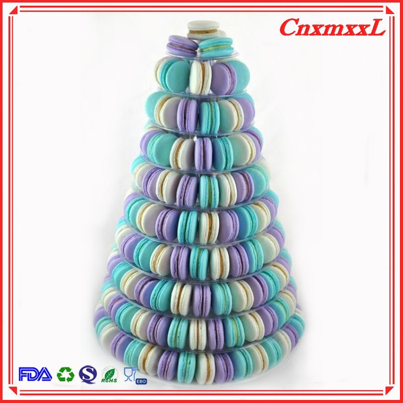 9 Tier Macarons Plastic Blister Tower Stand Macaron Packaging Box Wholesale Customized Trinket Luxury Gift Boxes Wi Macaroon Cake Macaron Cookies Macaron Tower
