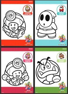 Captain Toad S Treasure Tracker Colour In Sheets With Goomba And