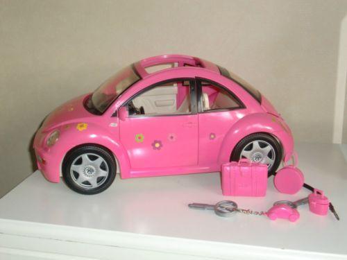 Barbie Vw Beetle Car Pink