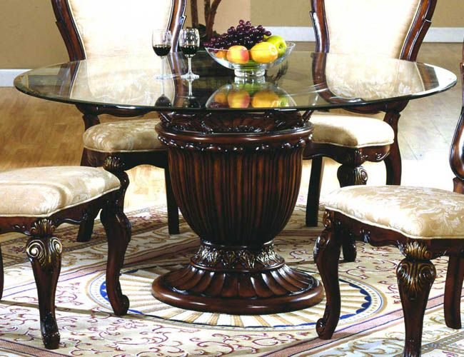 Round Glass Dining Table Top Round Pedestal Dining Round