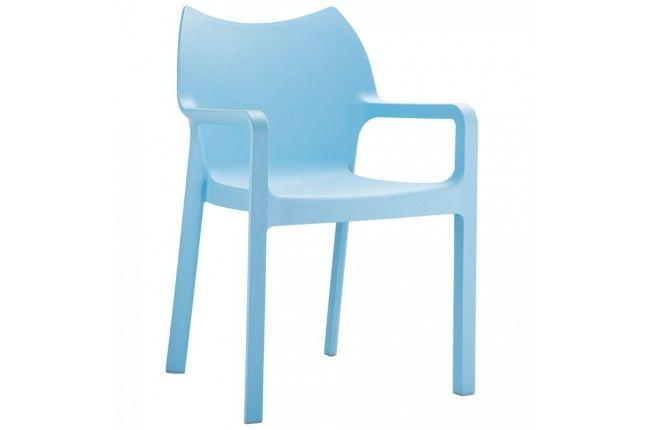 Chaise Design De Terrasse Viva Bleue En Matiere Plastique Chaises Chairs Design Garden Terra Patio Dining Chairs Outdoor Dining Chairs Dining Arm Chair