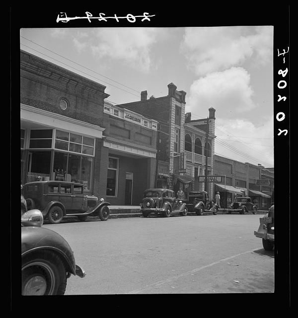 Fayetteville Street In Siler City North Carolina 1939 July Siler City Chatham County Chatham