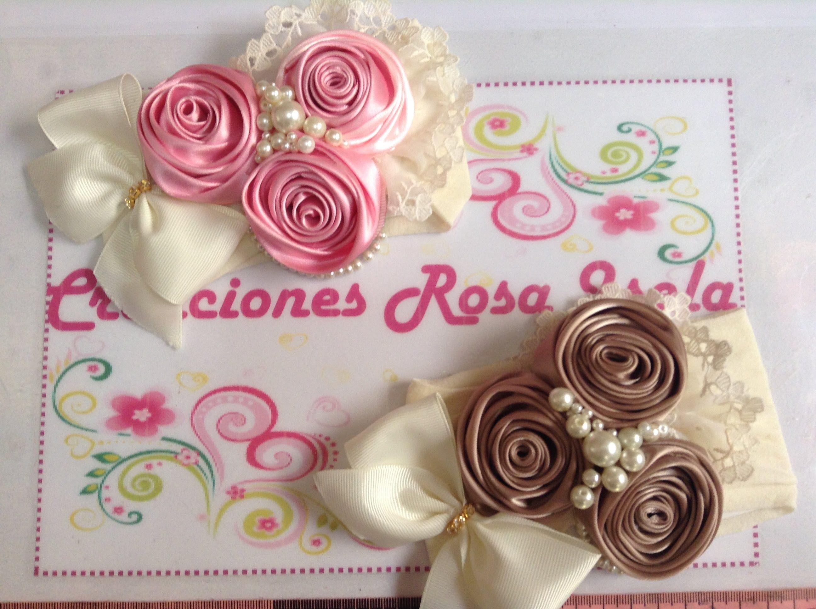 Tiara de rosas con perlas Creaciones Rosa Isela