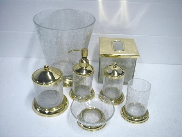 Glass Bath Accessory Sets