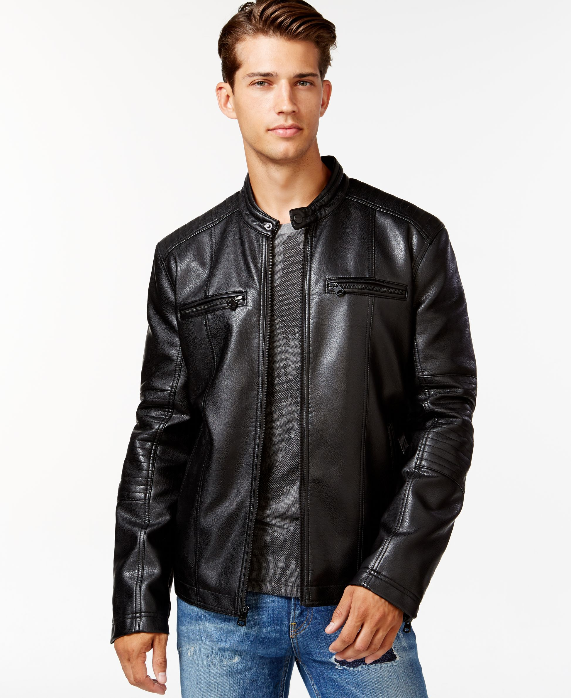 Levi S Racer Faux Leather Jacket Leather Jacket Mens Leather Clothing Leather Jacket Black [ 2378 x 1947 Pixel ]
