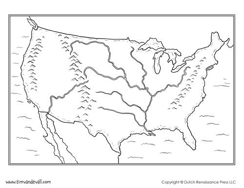 Blank Usa Map Printable Maps United States Map Outline Format