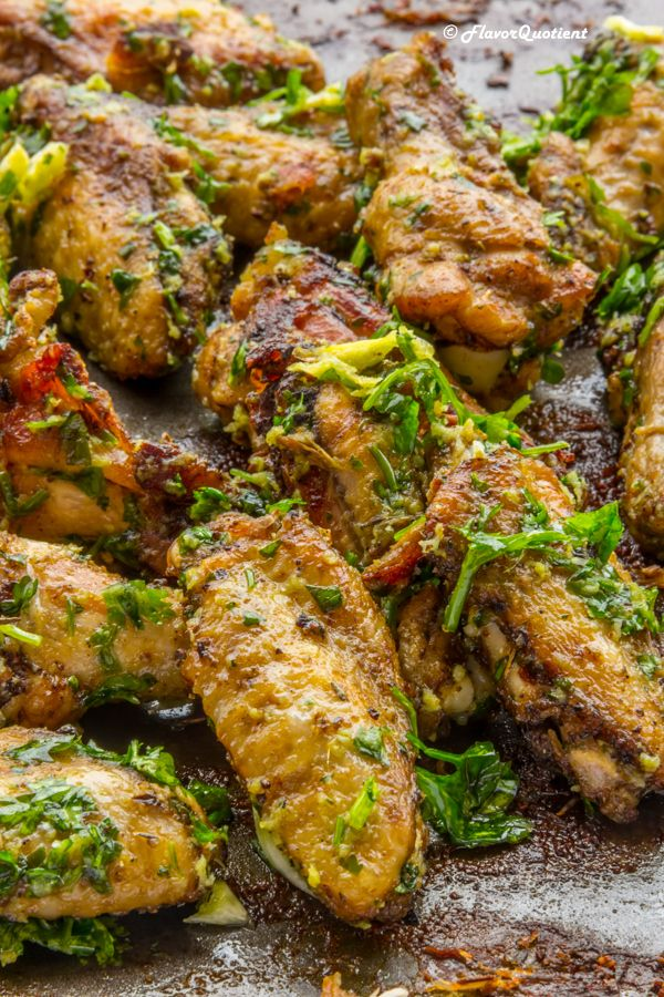 Baked Garlic Parmesan Chicken Wings Recipe