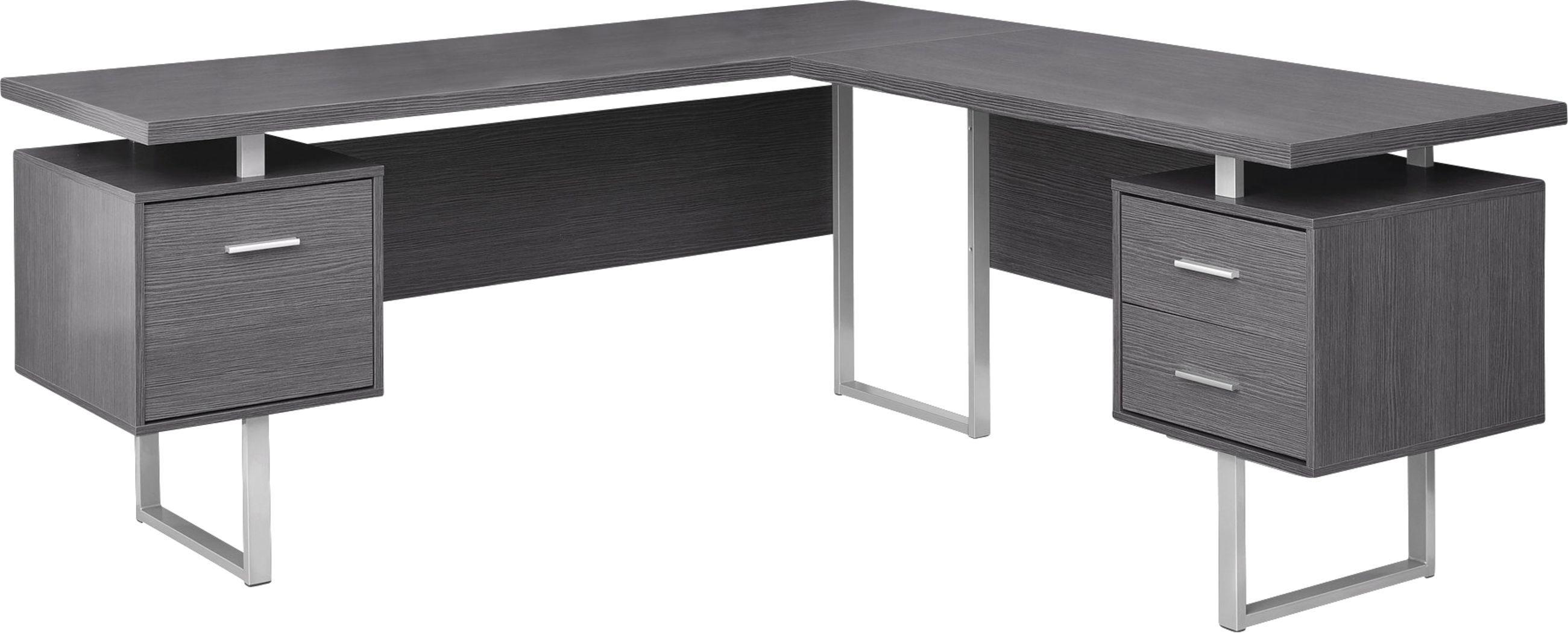 Wellyn Gray Desk Corner Desk Grey Desk L Shaped Corner Desk