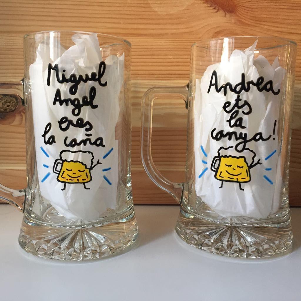 Jarra de Cerveza vidrio 50 cl con frases Modelo Good Idea