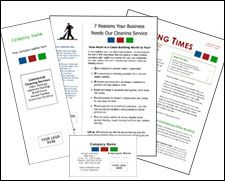 This Group Of Janitorial Marketing Forms Includes Brochure