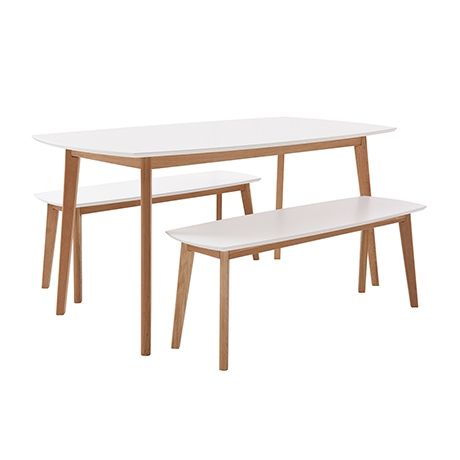 Novo 3 Piece Dining Package Natural White Freedom FurnitureHouse