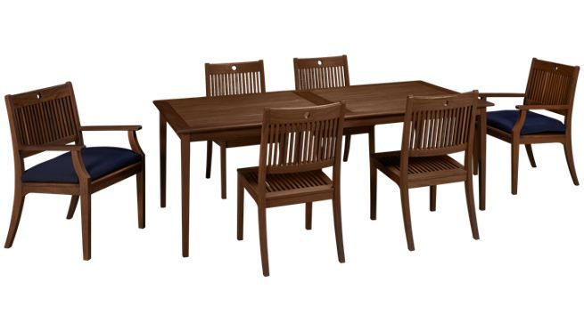 Beau Existing Jensen Leisure Outside Dining Set, 6 Chairs U0026 2 End Chairs. All  Wood