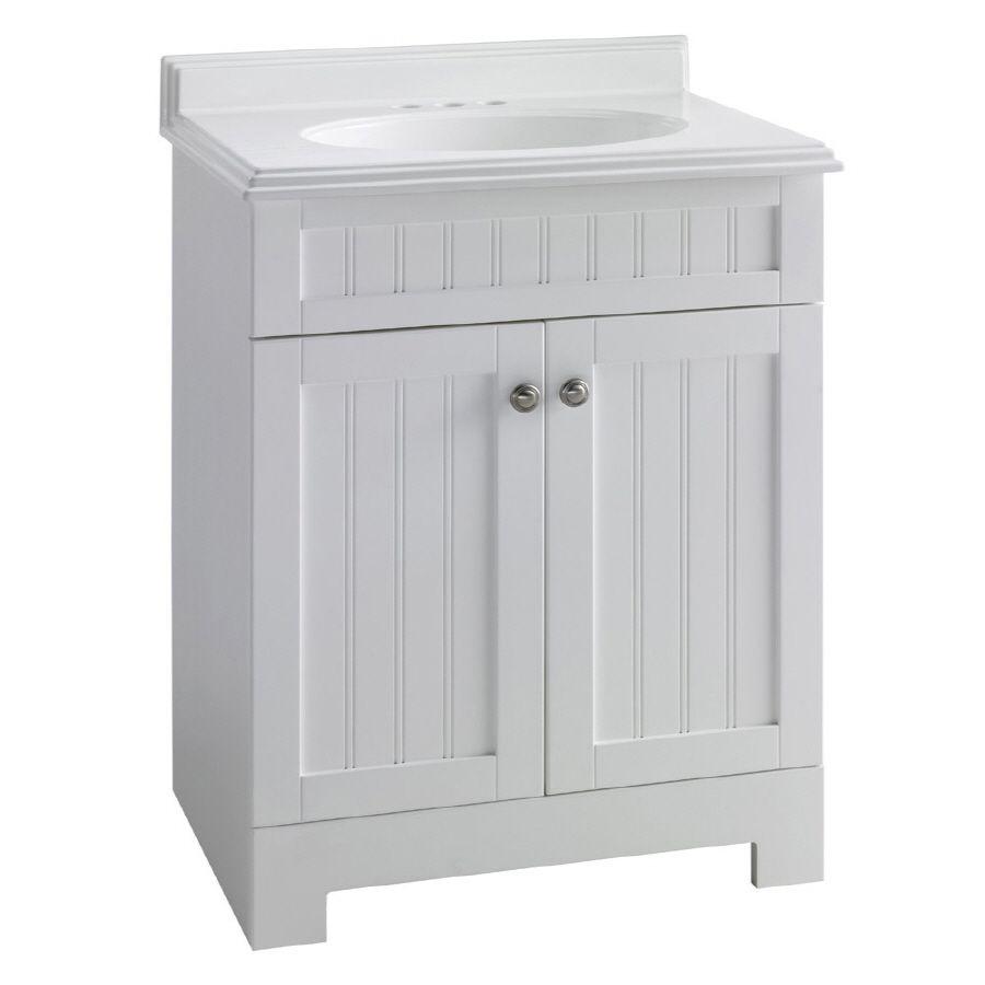 Shop Estate By Rsi Boardwalk 25 In X 19 In White Single Sink