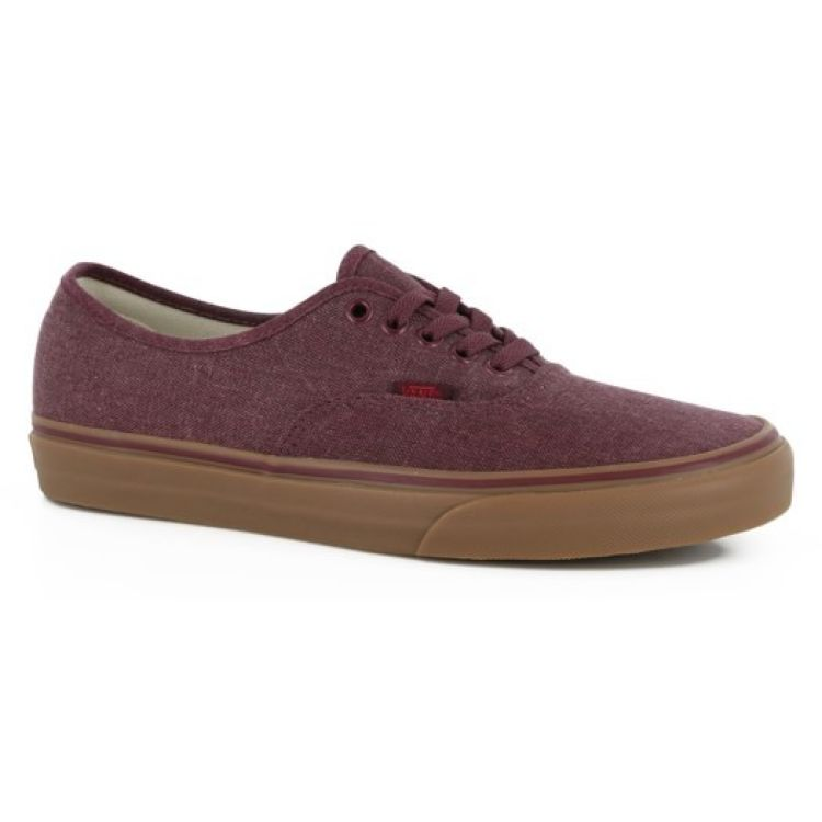 e858ed3573 Vans Authentic Shoes - Washed Canvas Port Royale Gum