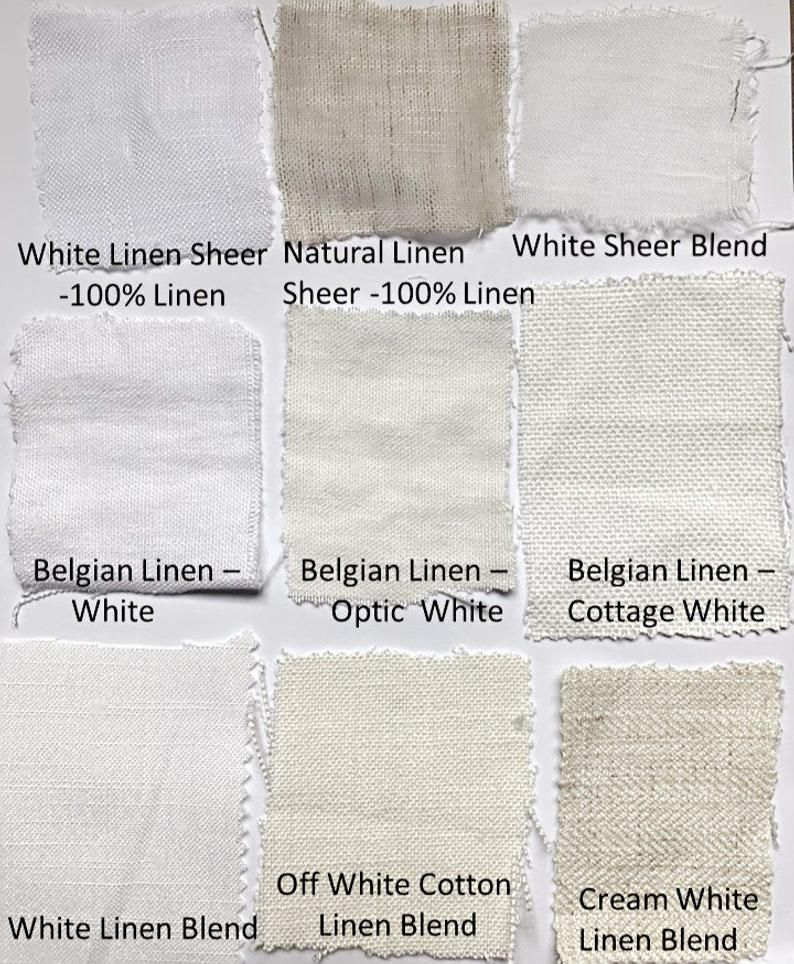 Fabric Swatches For Custom Curtains Custom Drapes Linen Etsy In