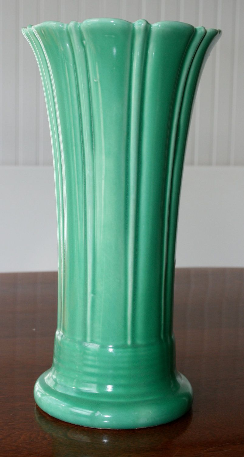 Id like get a fiestaware vase dont really need it but it would vintage fiesta ware light green vase i prefer turquoise reviewsmspy