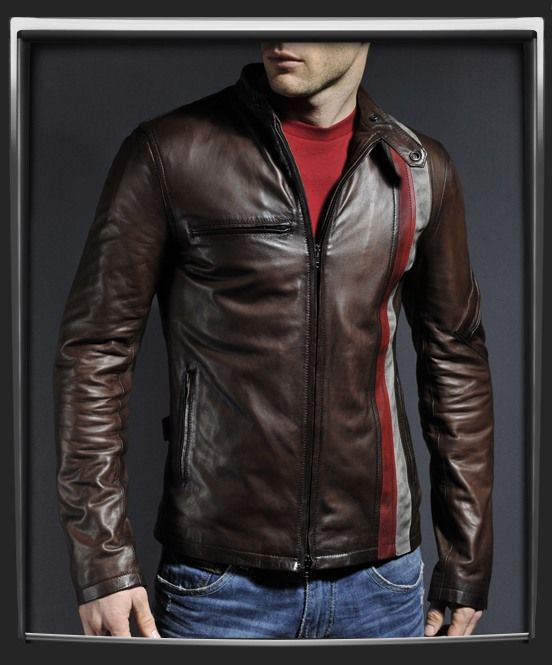 Cuir vintage moto 3of 3 | Motorcycle Jackets | Veste cuir