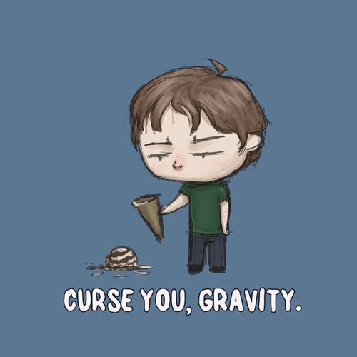 Curse You Gravity Cute Funny Quotes Funny Pictures Funny Drawings