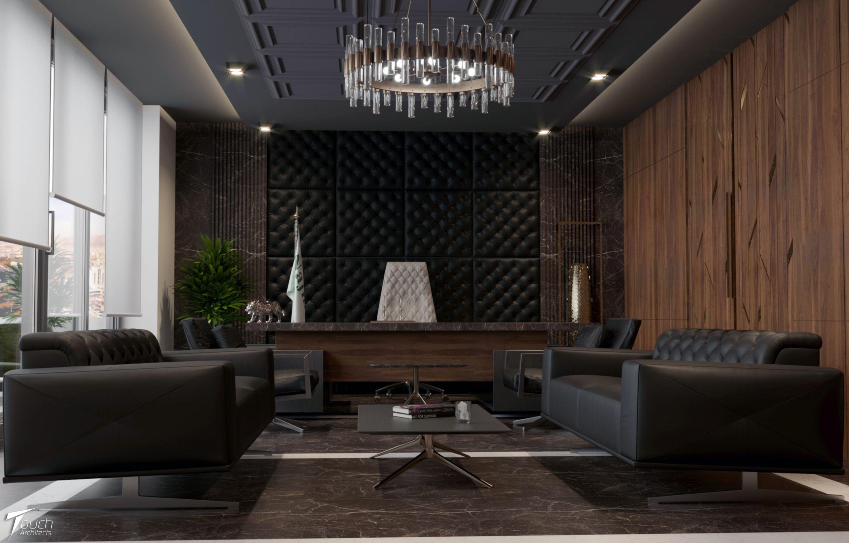 Touch Architects Modern Office Interior Najmadin G Moderne Burogestaltung Burotisch Design Small Cabin Interiors